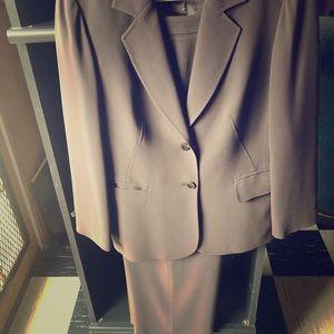 Talbots brown 2 pc blazer/ pants set
